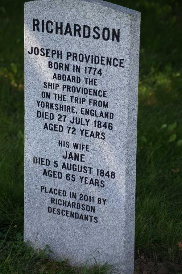 Joseph Richardson Gravestone