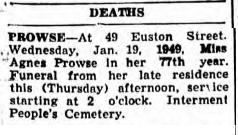 Agnes death