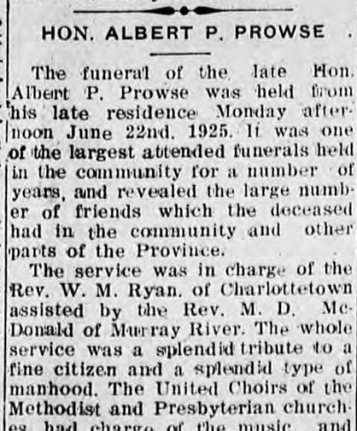 Newspaper - Funeral of Albert P. Prowse (cropped).jpg