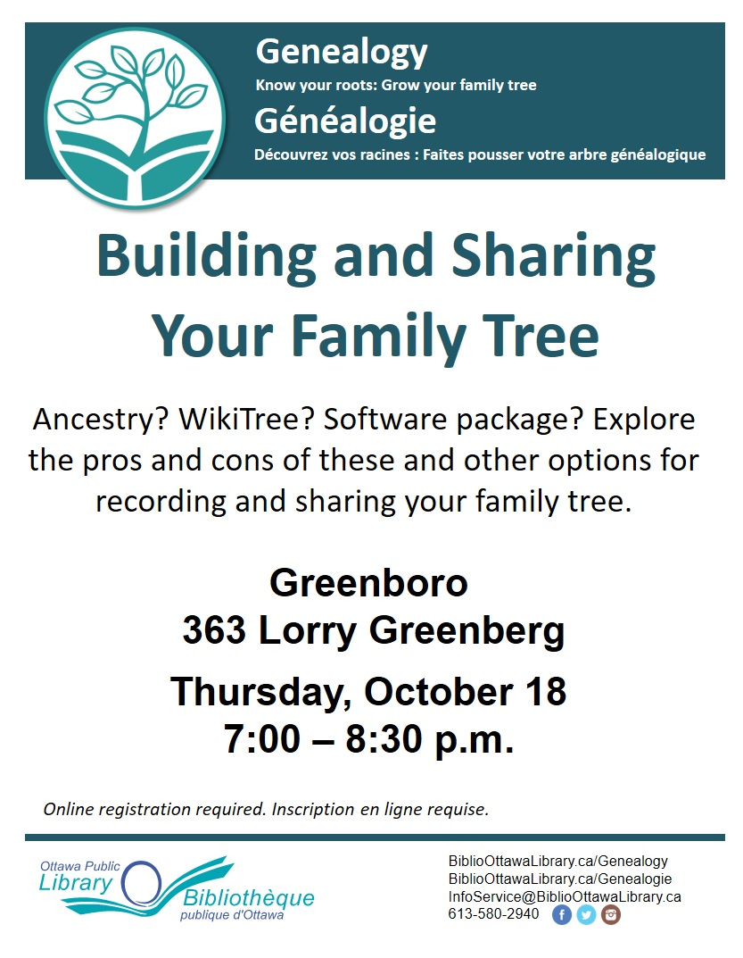 Building and Sharing Your Family Tree